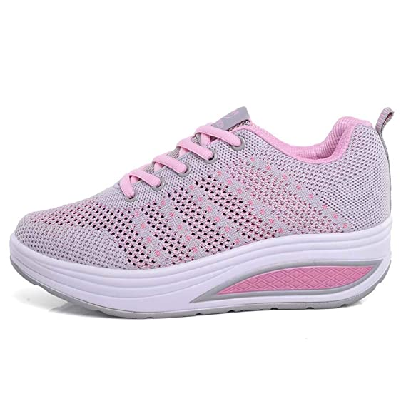 Amazon.com: YKARITIANNA 2019 Womens Fashion Mesh Heightening Lace-up Sneakers Walking Shoes Fitness Sports Soft Bottom Rocking Shoes: Arts, Crafts & Sewing