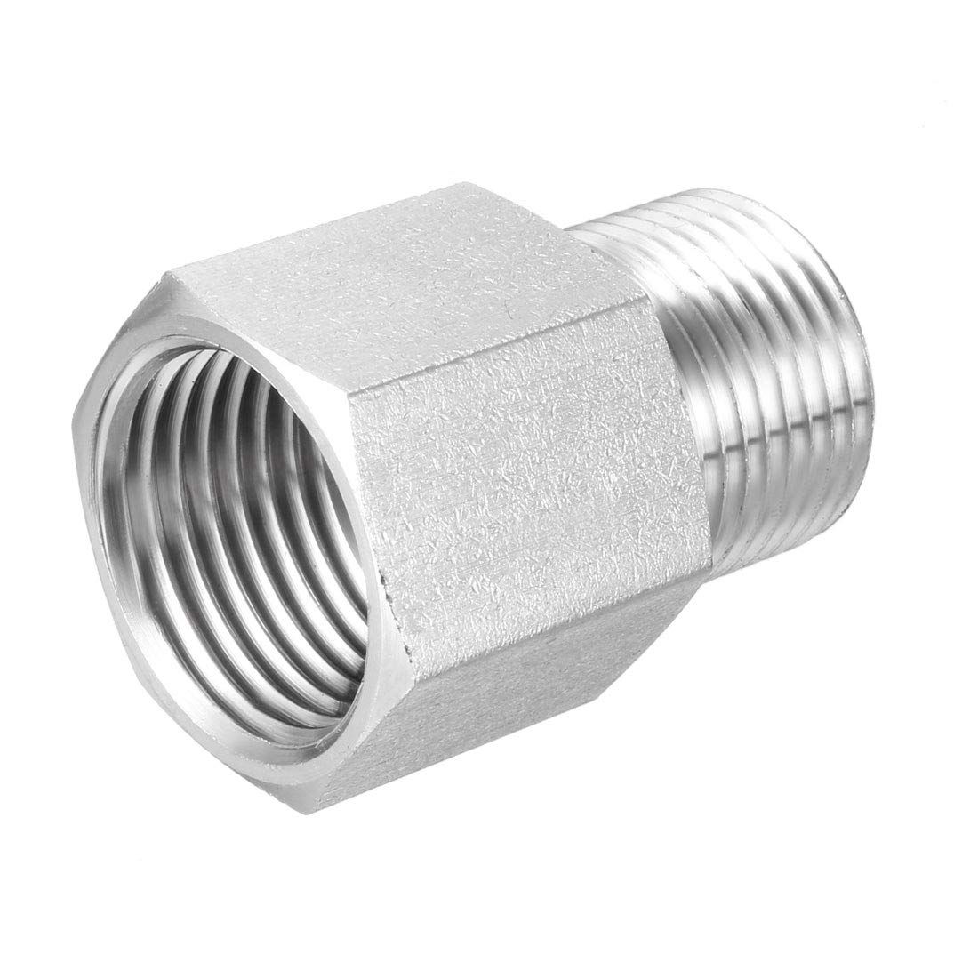 uxcell Reducing Pipe Fitting Reducer Adapter M20X1.5 Male x 1//2-inch NPT Female