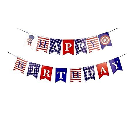 Amazon.com: Banderines colgantes de feliz cumpleaños ...