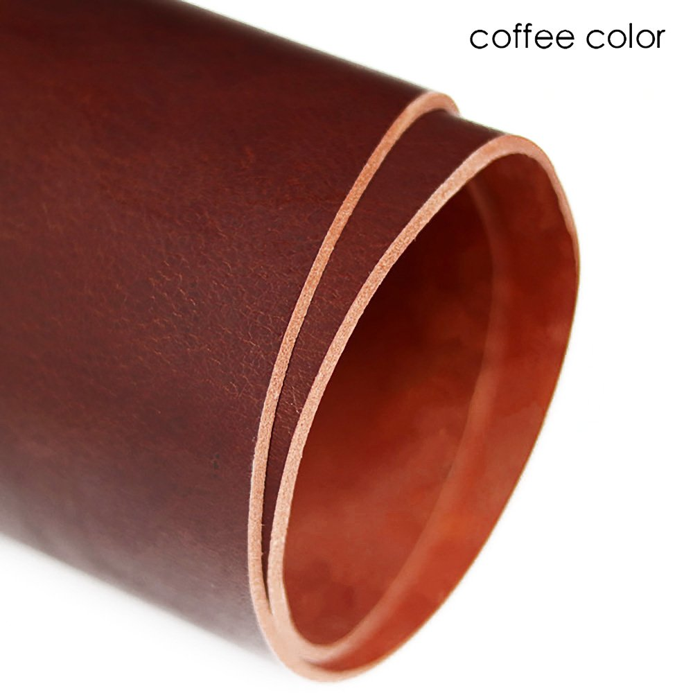 Vegetable Tanned Cowhide Genuine Leather Craft Sheath/Belt DIY Material 3~4mm Thickness (Coffee (Thickness : 3mm), 12 Square feet)