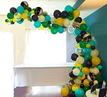 PuTwo Party Balloons 105 Pcs Latex Birthday Helium Perfect Decoration For Jungle
