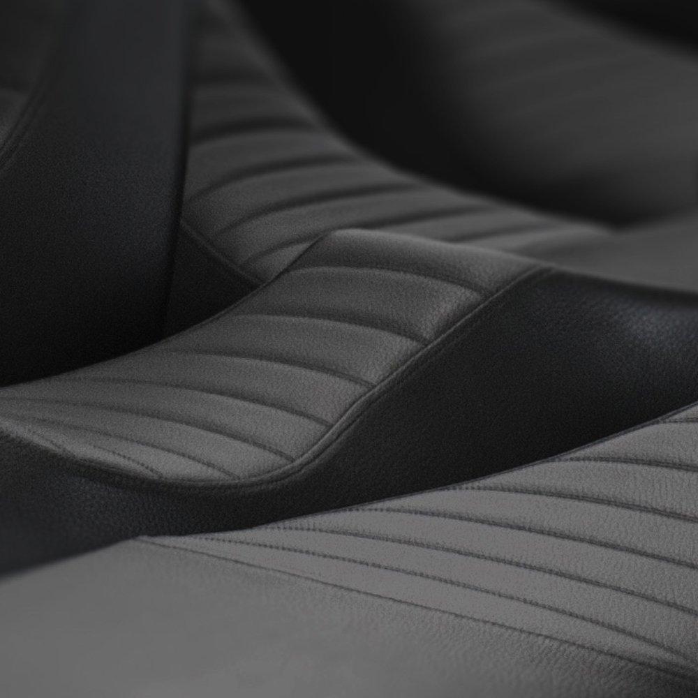 schwarz SITZFLEISCH BMW R80R R80GS R100R R100GS comfort Sitzbank Bezug