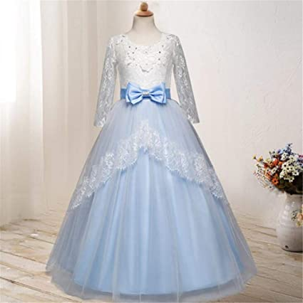 Amazon.com SPP PANDA Blue Flower Girl Dresses for Weddings