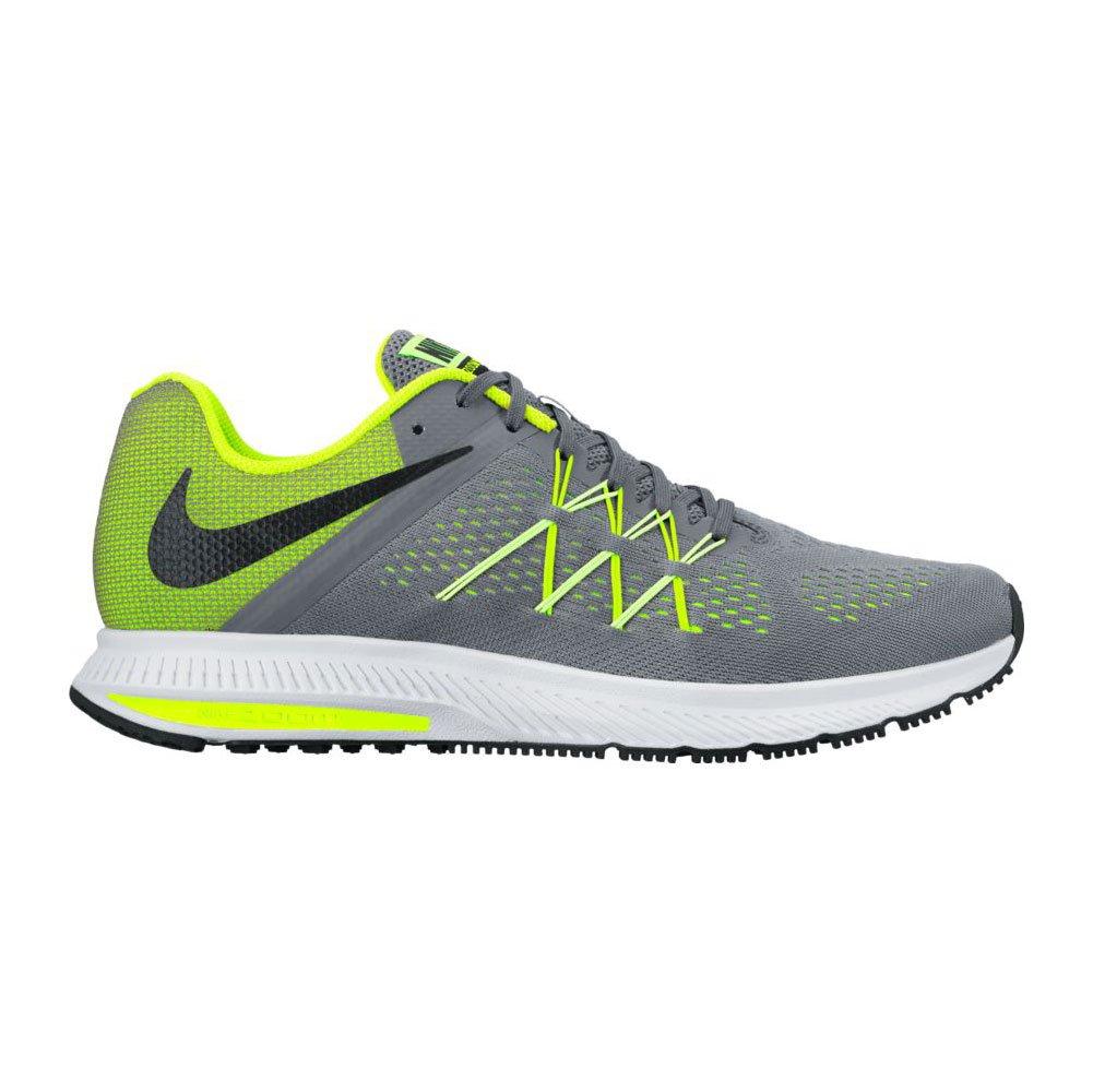 NIKE Mens Zoom Winflo 3 Fitsole Cushlon Running Shoes B001F0OLL8 11 D(M) US|Cool Grey/Black-volt