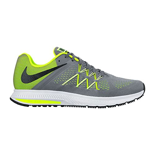 886c48b9c559 Nike Men s Zoom Winflo 3 Running Shoe Cool Grey Black Volt Barely Volt 9  D(M) US  Buy Online at Low Prices in India - Amazon.in
