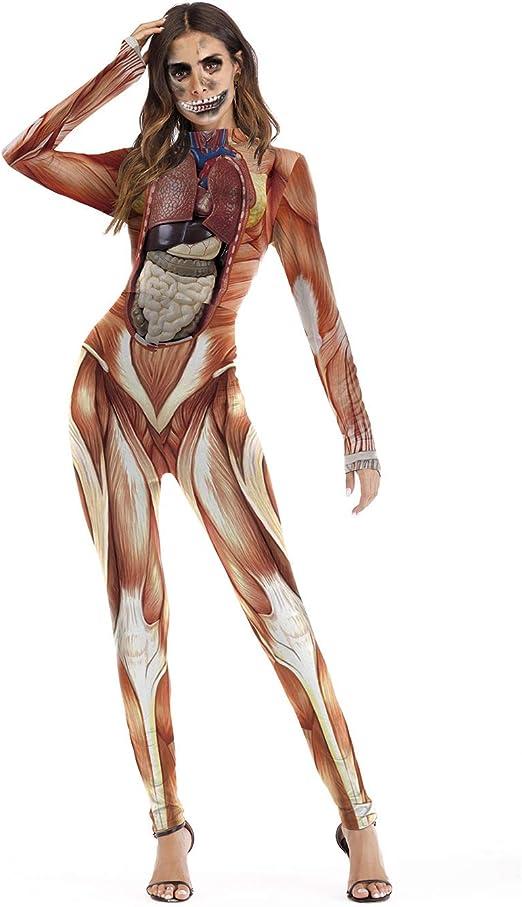 Disfraz de bruja de enfermera zombie de esqueleto para Halloween S ...