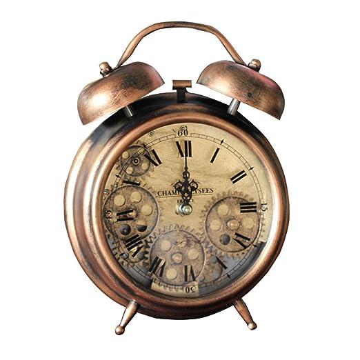 DIDA CLOCK Vintage Retro Engranaje Relojes Sobremesa Despertador ...