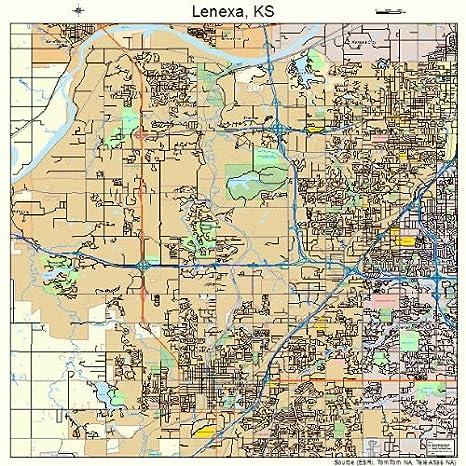 Lenexa Kansas Map.Amazon Com Large Street Road Map Of Lenexa Kansas Ks Printed