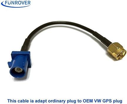funrover GPS Antena Fakra adaptador tiburón Buchse para VW ...