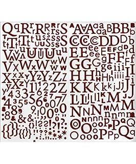 177 Lettres De L Alphabet Adhesives Paillettees Dorees Amazon Fr