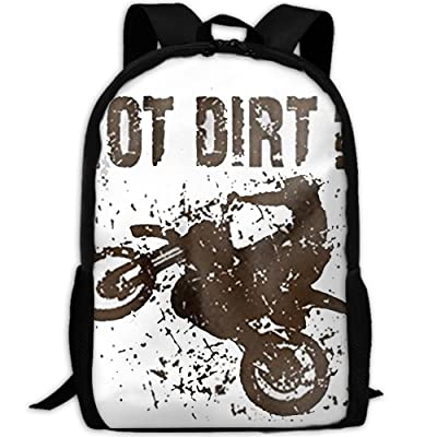 CYMO Got Dirt Bike Motorcross Racing Unique Casual Backpack School Bag Travel Daypack Gift: Toys & Games