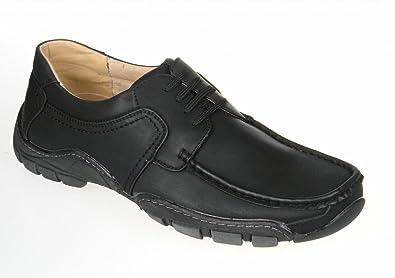 Mens Black Lace Up Comfort Smart Casual