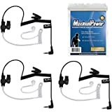 MaximalPower RHF 617-1N 3.5mm Receiver/Listen ONLY Surveillance Headset Earpiece with Clear Acoustic Coil Tube Earbud Audio K