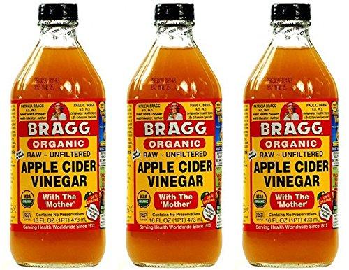 Bragg Apple Vinegar Mother With Cider ((3 Pack) - Bragg - Bragg Apple Cider Vinegar | 473ml | 3 Pack Bundle)