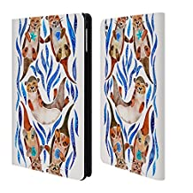 Official Cat Coquillette Blue Otters Animals 2 Leather Book Wallet Case Cover For Apple iPad mini 1 / 2 / 3