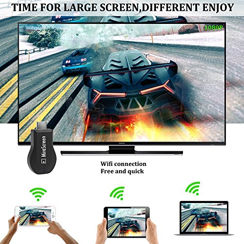 MiraScreen Wireless Display Dongle, Screen Mirror, 1080P HDMI Adapter, TV Stick Support Miracast DLNA Airplay Free Installation (no APP, no driver) TV Dongle for all smartphone by Yehua (Image #3)