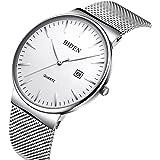 Guarda, orologio da uomo casual classico in moda uomo con fascia in maglia milanese, orologio da polso analogico casual impermeabile al quarzo