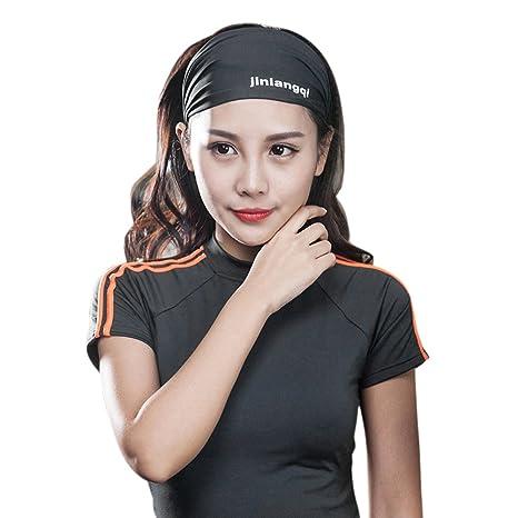 CHIC de 3pcs Mujer Sport Headband Cinta Pañuelo Fitness Cabello ...