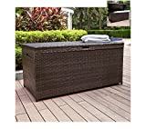 Crosley Furniture Palm Harbor Outdoor Wicker Storage Bin - Dark Brown