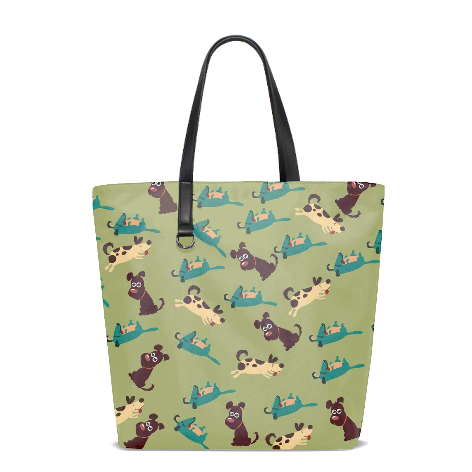 Women Tote Bag Notebook Shoulder Bag Lightweight Polyester Business Work Office Briefcase Cute Cartoon Sheep Icon