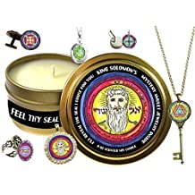 King Solomons Seal Jewelry Inside 6 ounce Scented Soy Candle (Ring, Gold)