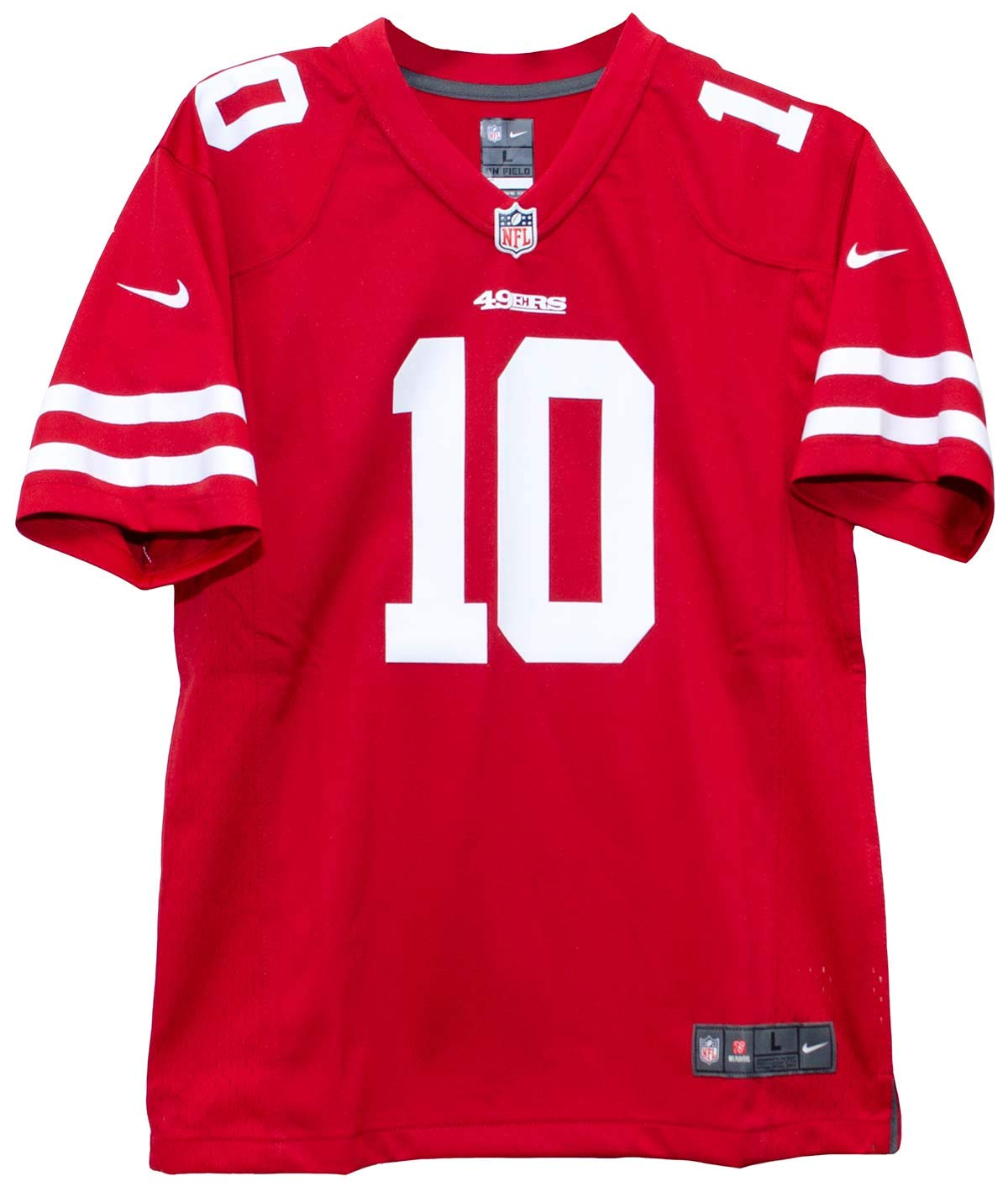 0f32a40fd Amazon.com   Nike Jimmy Garoppolo San Francisco 49ers Team Color Youth Game  Jersey   Sports   Outdoors