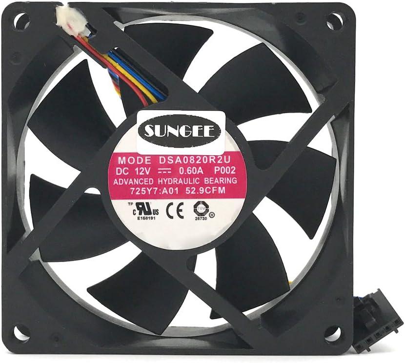 DASA0820R2U 12V 0.6A 4Wire For Dell Optiplex 790 990 SFF Case Cooling Fan