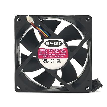 DASA0820R2U 12V 0 6A 4Wire For Dell Optiplex 790 990 SFF Case Cooling Fan