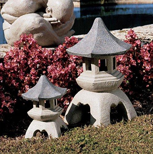 Design Toscano Pagoda Lantern Sculptures Medium and Large Set by Design Toscano (Image #1)