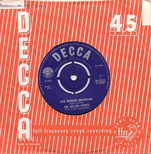 Rolling Stones - 19th Nervous Breakdown  As Tears Go By 45 Rpm Single - Zortam Music