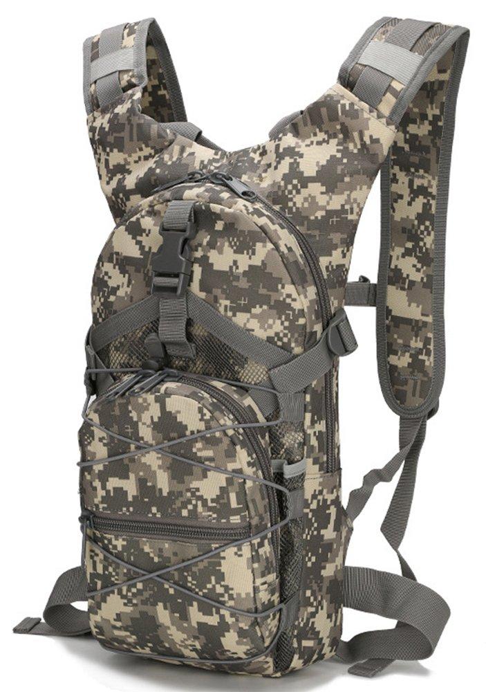 1 x Cyclisme Sac à dos pour les Femmes à l'extérieur Camouflage Imperméable Oxford Tissu sac à dos 15L léger Sac d'épaule Portable Sac à dos tactique - ACU numérique