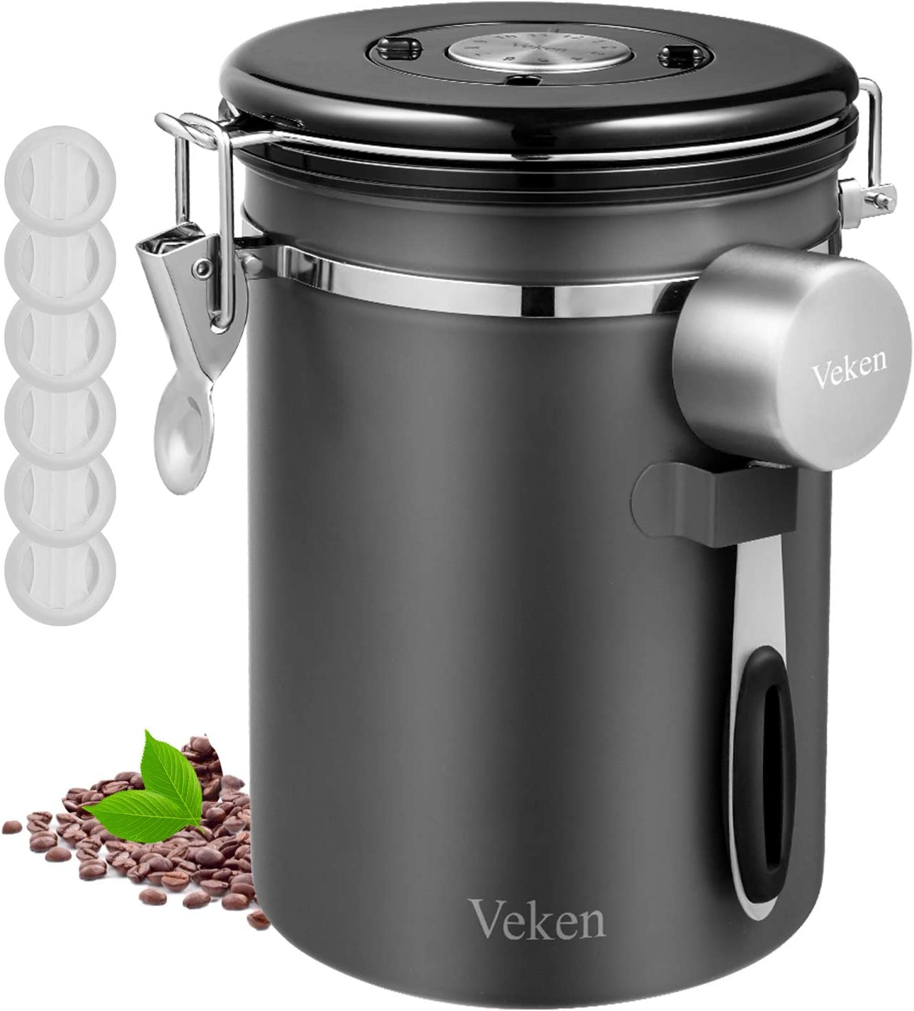 Amazon Com Veken Coffee Canister Airtight Stainless Steel