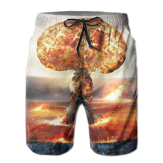 top1998 Pantalones Cortos de Playa para Hombre de Nuclear ...