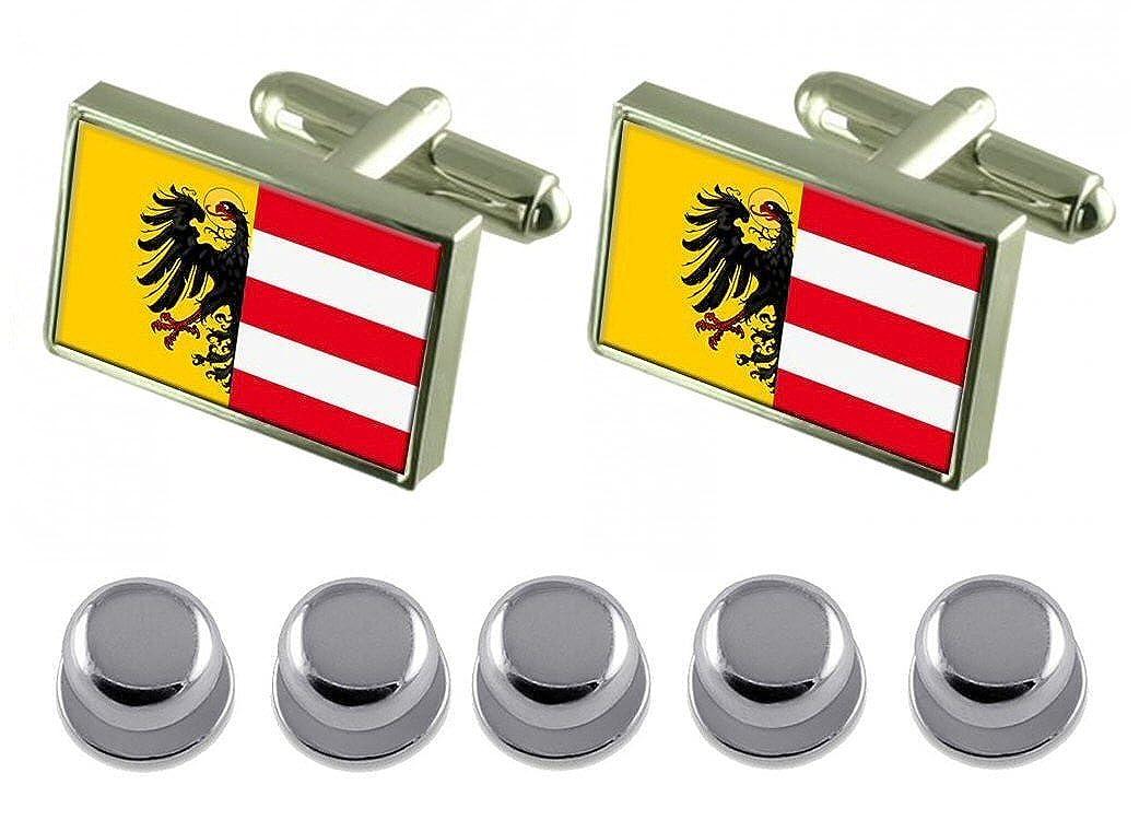 Select Gifts Shirt Dress Studs Nuremberg City Germany Flag Cufflinks