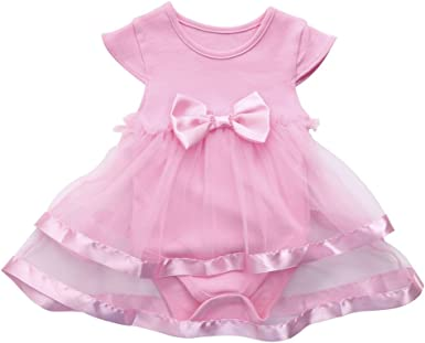 Tops UK Kids Baby Girls Sleeveless Plaid Dress Clothes Formal Outfit Gift
