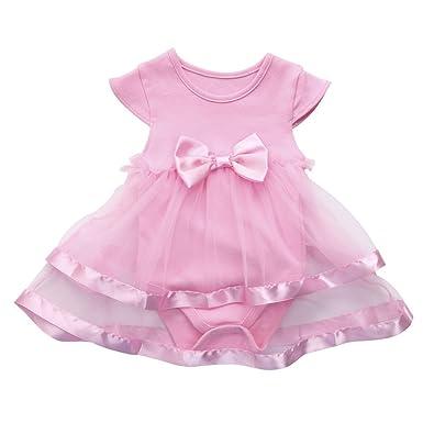 0e388a1820cb62 Goosuny Baby Overall Kleider Mädchen Ärmellos Jumpsuit Tüll Tutu Prinzessin  Kleid Sommerkleider Strampler Minikleid Outfit Kleidung