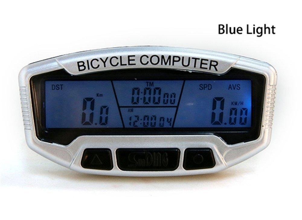 Digital LCD Blue Backlight Bike Bicycle Speedometer Odometer Computer Meters Sd558a Clock Stopwatch