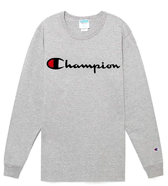 300e4da128 Champion Mens Heritage Long Sleeve Tee T-Shirt  Amazon.ca  Clothing ...
