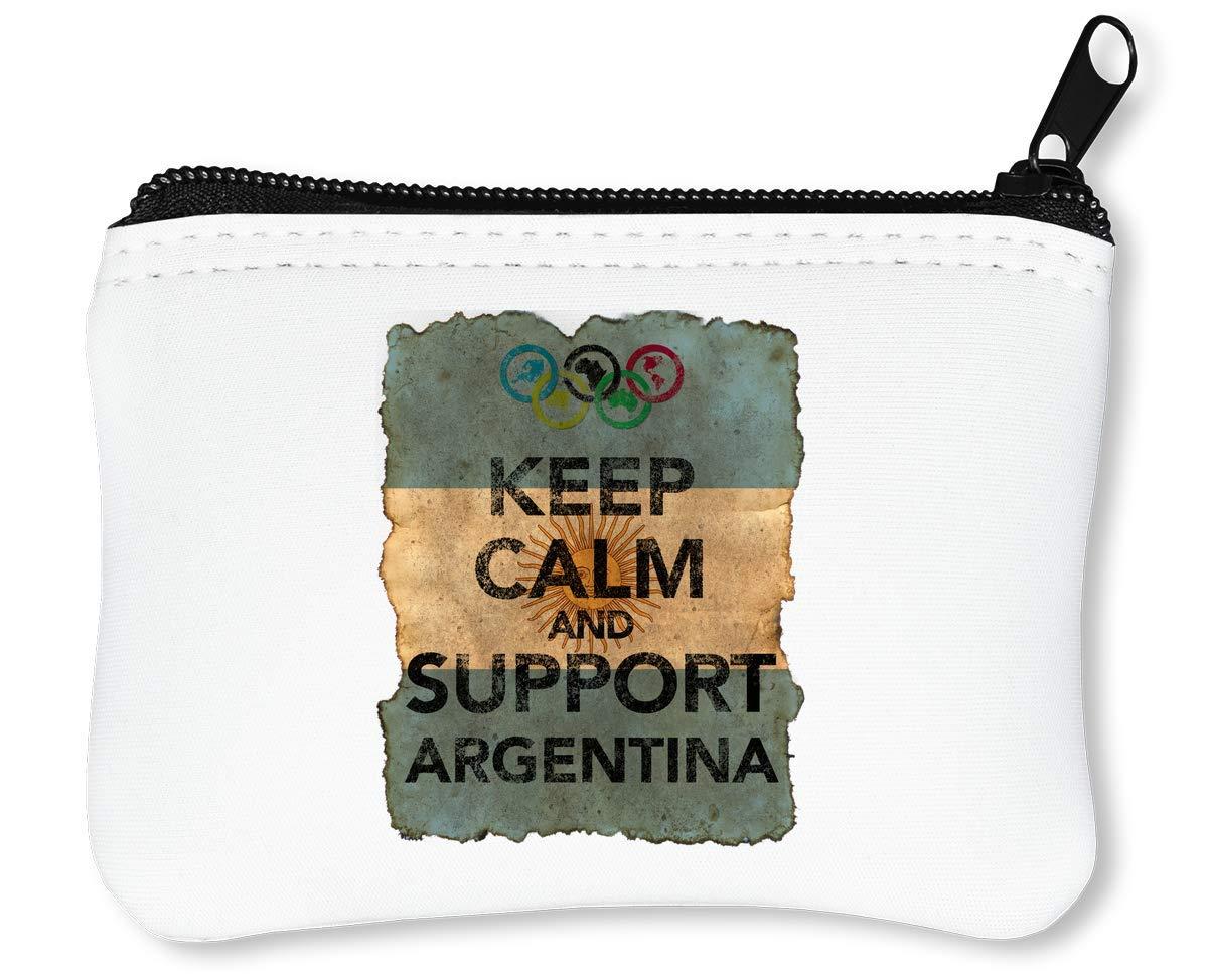 Vintage Keep Calm Support Argentina Billetera con Cremallera Monedero Caratera: Amazon.es: Equipaje