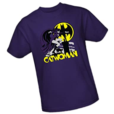 Rooftop Cat Catwoman DC Comics Adult T Shirt Small