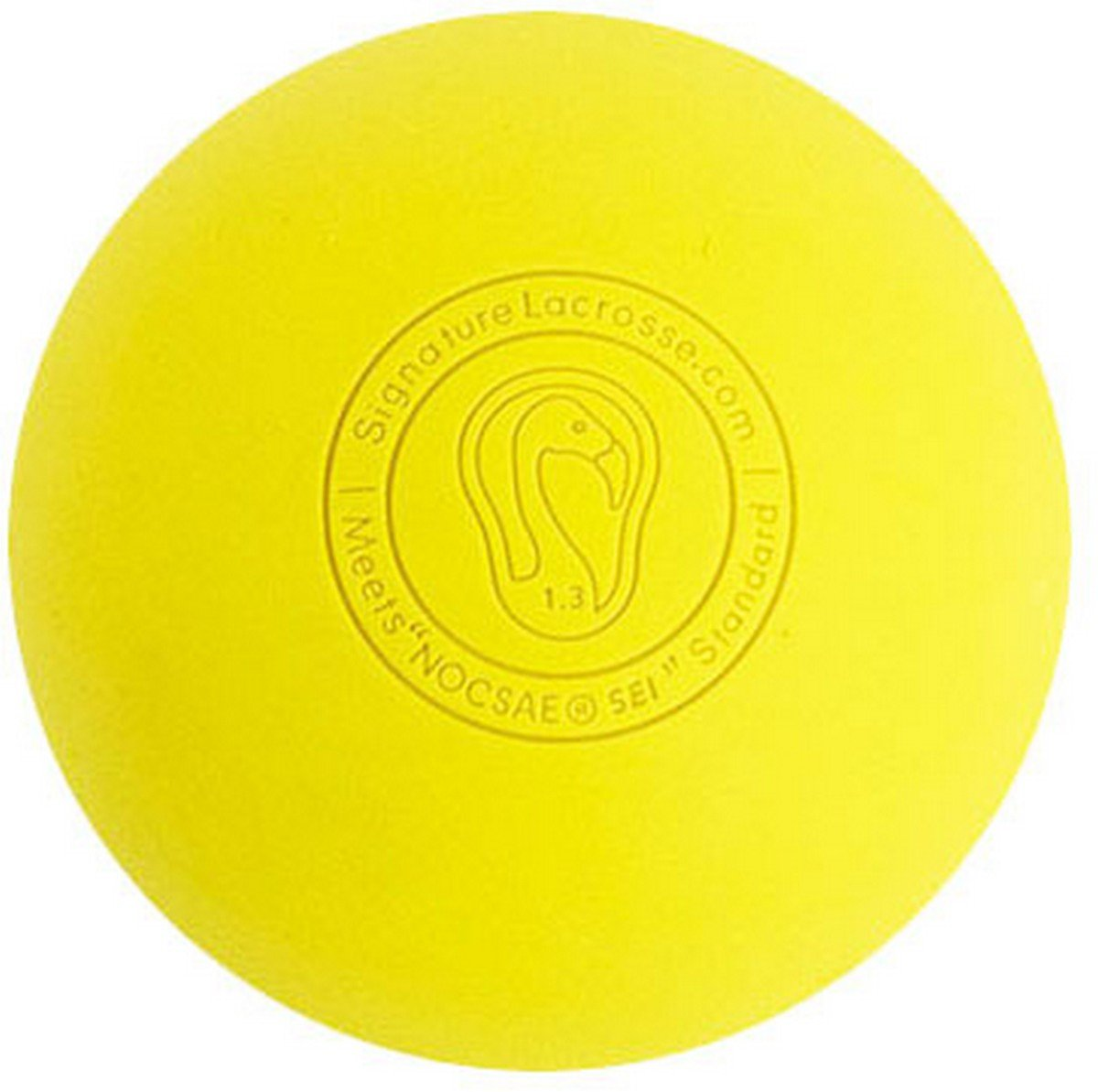 Signature Lacrosse Ball (8-Ball) Yellow NOCSAE & SEI Approved Yellow-8P