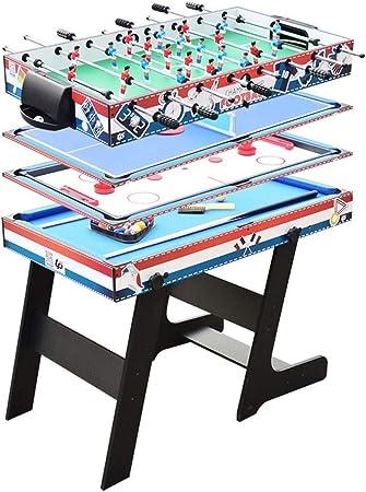 Luorizb Mesa de la máquina Multifuncional de niños de fútbol, Piscina, Mesa de Tenis de Mesa, Hockey sobre Hielo Mesa Plegable: Amazon.es: Hogar