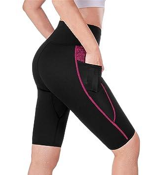 Amazon.com: TrainingGirl pantalones cortos de cintura alta ...