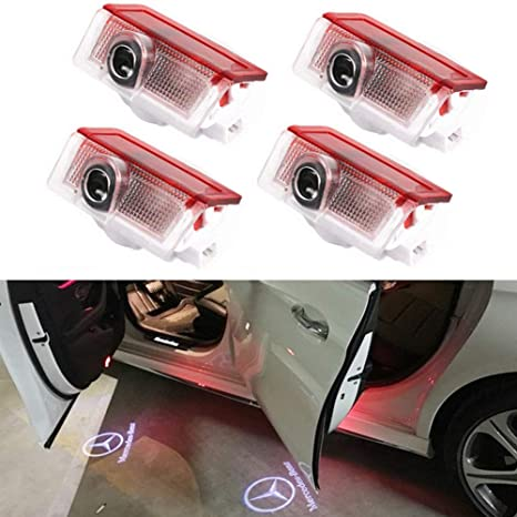 Car Ghost Shadow Logo Light, BSVLIA Car Door Projector Light Logo LED Lámpara de puerta
