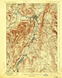 YellowMaps Greylock MA topo map, 1:62500 Scale, 15 X 15 Minute, Historical, 1898, Updated 1925, 19.7 x 15.7 in - Tyvek