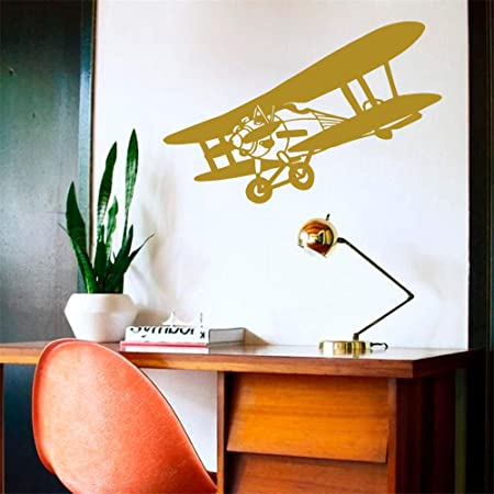 Ajcwhml Arte Vinilo Adhesivo biplano avión Cielo Volando bebé niño ...