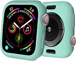 BOTOMALL for Apple Watch Case 38mm Series 3/2 Premium Soft Flexible TPU Thin Lightweight Protective Bumper Cover Protector for iWatch(Mint Green,38MM Series 3/2)