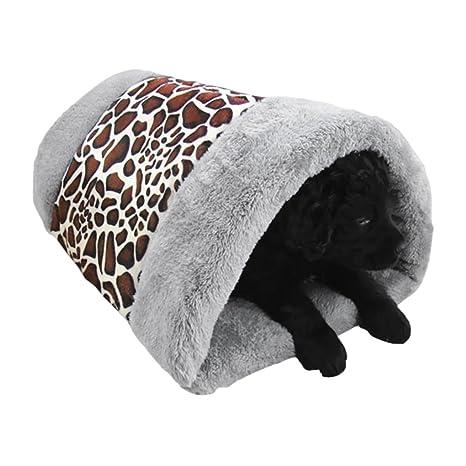 BXT Double funciones mascotas Esterilla y caseta gato Puppy Cojín extraíbles Lavado Bar Sacos de dormir