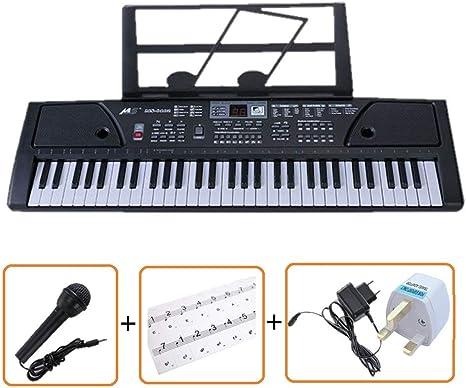 61 TECLAS MULTI FUNCIONES TECLADO ELECTRÓNICO PIANO Paquete con un exclusivo teclado Pegatinas Nota por IVALLEY