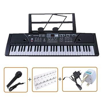 61 TECLAS MULTI FUNCIONES TECLADO ELECTRÓNICO PIANO Paquete con un exclusivo teclado Pegatinas Nota por IVALLEY: Amazon.es: Instrumentos musicales